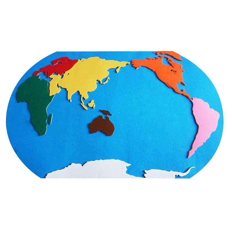 Montessori Felt Map Felt World Map