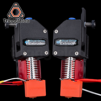 trianglelab Left Mirror BMG extruder and hotend Bowden Extruder  Dual Drive Extruder for 3d printer  for 3D printer MK8 3d printer parts cyclops 2 in 1 out 2 colors hotend 0 4 1 75mm 12v 24v fan bowden with titan bulldog extruder multi color nozzle