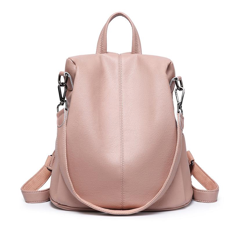 Fashion Women Backpack High Quality Leather Schoolbags for Teenage Girls Female School Shoulder mochila women's rucksack C1133