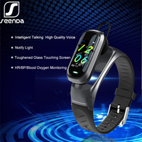 Seenda Ai Smart Horloge Bluetooth Oortelefoon Hartslagmeter Smart Polsband Antwoord En Dail Oproep Smartwatch Klok Waterdicht-in Smart watches van Consumentenelektronica op