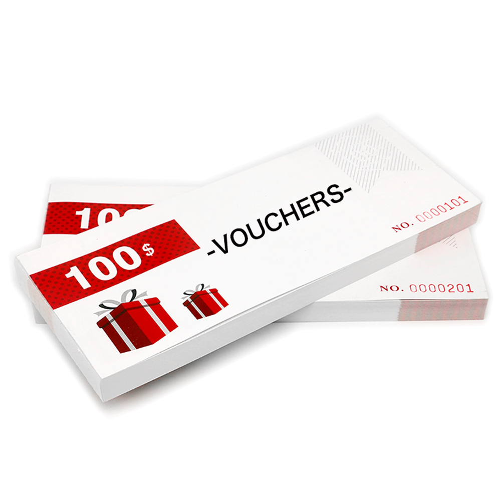 Customise Vouchers Character Design Promotion Gift Vochers Business Cards