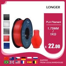Filamento mais longo do pla 1.75mm pla para a impressora 3d 1kg pelo material 11 cores do pla do rolo para a impressora 3d do pla do filamento da impressão 3d