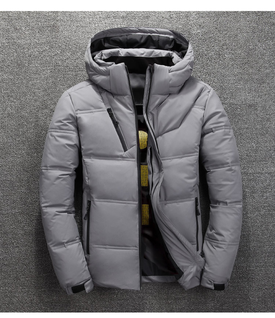 Fashion jacket men hooded windproof coat new down cotton 3 color casual fashion warm thick high quality