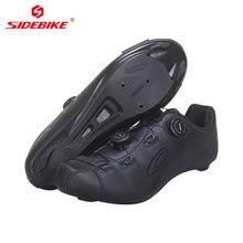 Ботинки мужские для велоспорта из микрофибры с нейлоновой подошвой