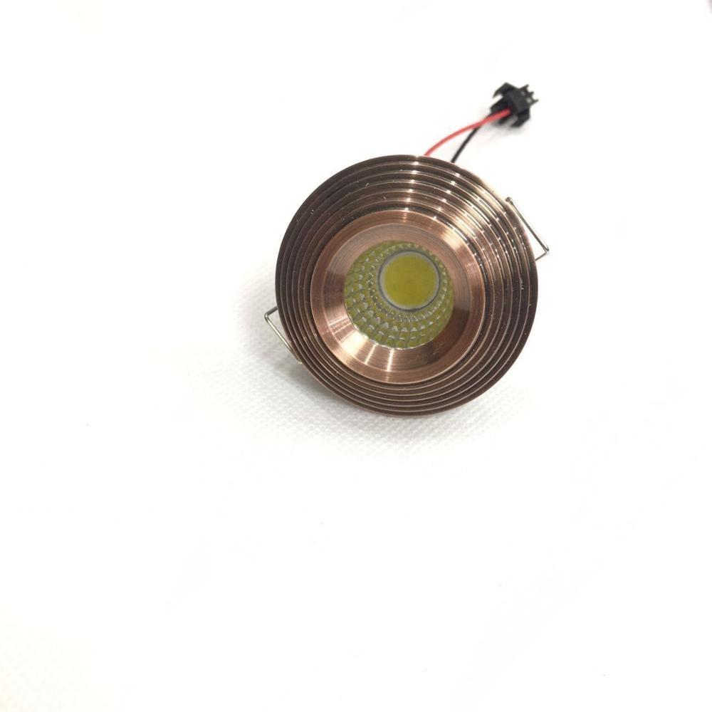 10 Stück 3 W LED Mini Einbauleuchte Rund verstellbarer Spot Deckenlampe 220 V LED-Schrankleuchte