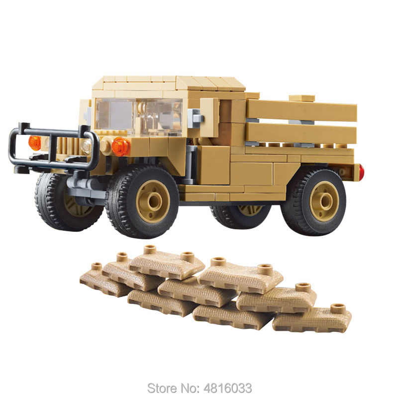 M1097A2 Cargo Troop Carrier compatible legoinglys military vehicles army minifigs soldier figures building blocks kids toys gift