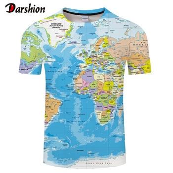 3D T-Shirt Popular Men T Shirt Short Sleeve Fashion Mens Tee Men World Map T-shirt Summer Short Sleeve Men's Clothes dragon ball z t shirt men fashion summer men short sleeve shirt 100