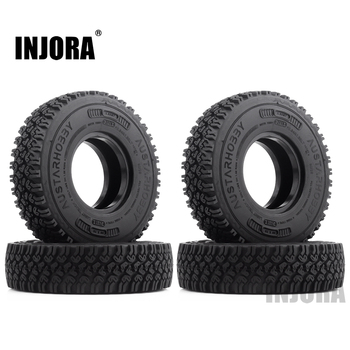 INJORA 4Pcs 1.55 Soft Rubber Terrain Wheel Tires for RC Crawler Car MST JIMNY Axial AX90069 D90 TF2 Tamiya CC01 LC70 1