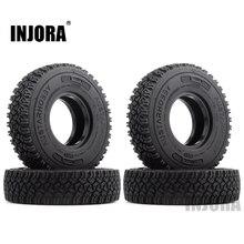INJORA 4Pcs 1.55 Soft Rubber Terrain Wheel Tires for RC Crawler Car MST JIMNY Axial AX90069 D90 TF2 Tamiya CC01 LC70