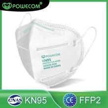 Powecom 10/30/50 pces ffp2 máscara protetora à prova de poeira filtro kn95 máscara protetora reusável boca máscara para adulto crianças boca muffle mascara proteção
