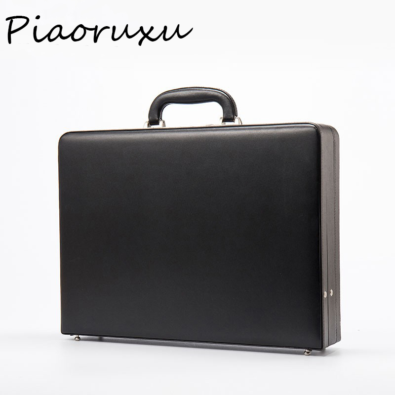 Briefcase Cash Bonded Black Piaoruxu Fashion Luxury Hot Password Document-Bag Extensible