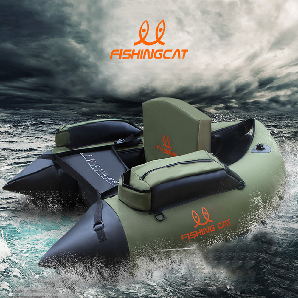 1 person fishing boat double-airbag safety easy to carry rubber boat professional Luya inflatable fishing boat by FISHINGCAT 1