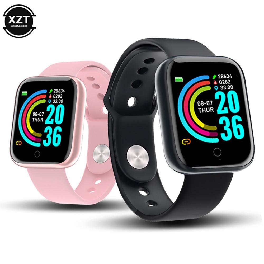 Смарт часы Y68 с Bluetooth, водонепроницаемые, спортивные, фитнес, светодиодный браслет, пульсометр, артериальное давление, для мужчин и девочек, Подарочные Смарт часы|Смарт-часы| | АлиЭкспресс