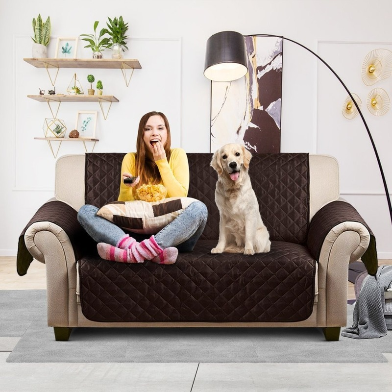 Multifunctional Couch Cover Waterproof Wear-resistant Pet Sofa Cover Single Double Three Seat Cushion For Dog And Cat image