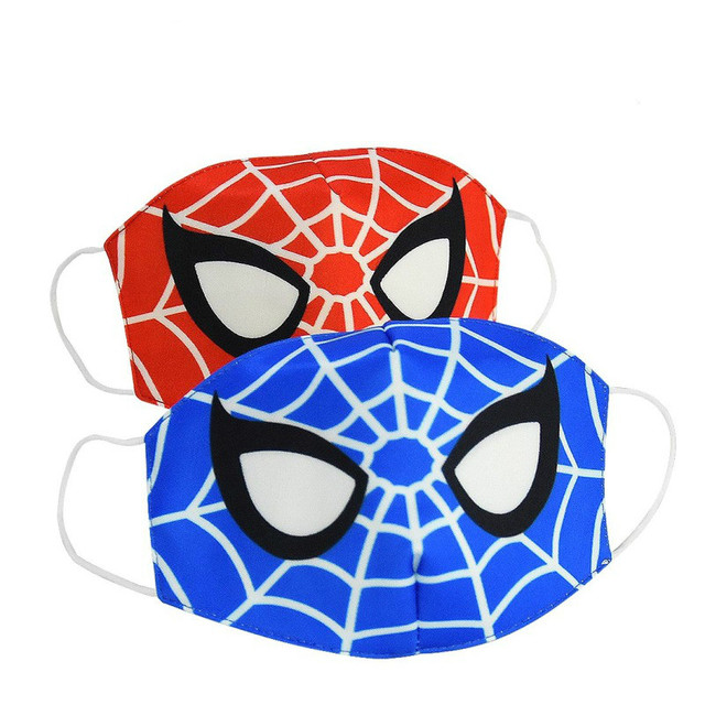 2020 Boy Hero Cotton Face Mouth Mask Kids Cartoon Spiderman Superman Printed Boys Dustproof Cover Anti Dust Mouth-Muffle 3