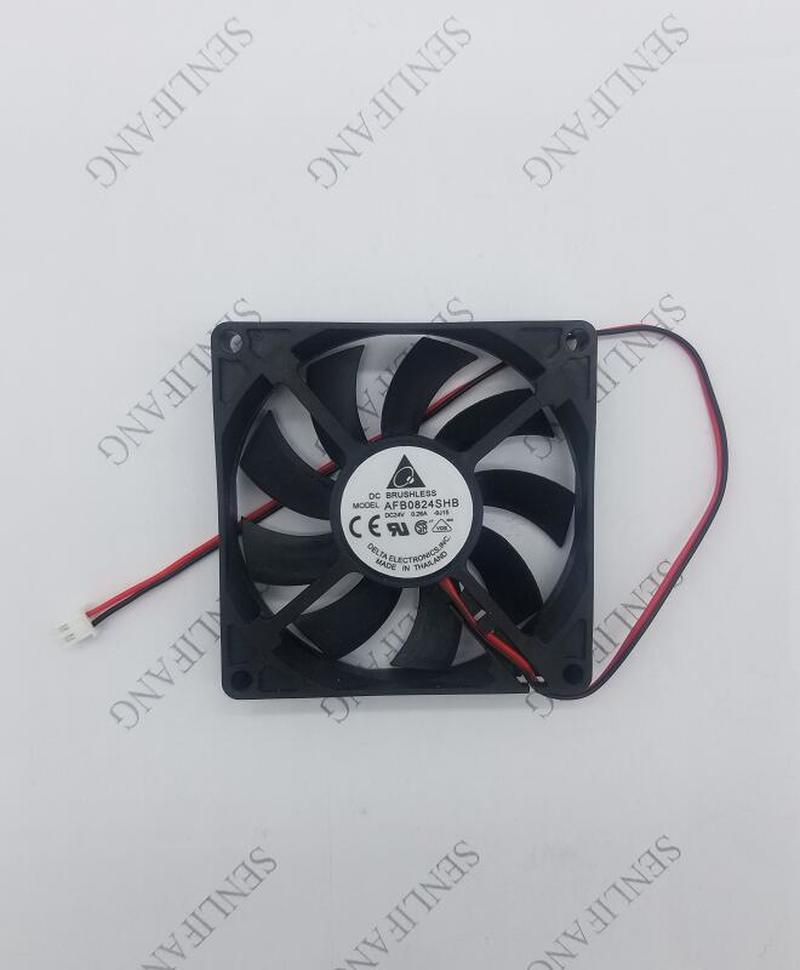 for delta Electronics AFB0824SHB 8015 80mm 8cm <font><b>80X80X15</b></font> mm DC 24V 0.26A 2pin 3pin industrial server cooling <font><b>fan</b></font> Free shipping image