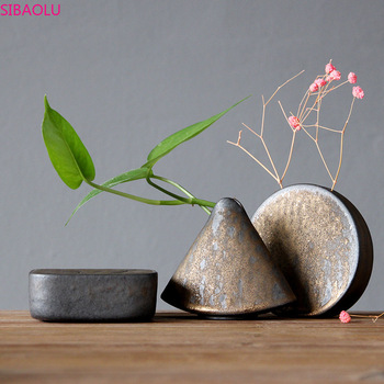Small Vase Decoration, Coarse Ceramic Kiln Becomes Small Flower Device, Tea Ceremony Zen, Hydroponic Flower, Small Ceramic Vase