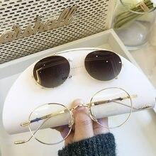 2 In 1 Runde Polarisierte Sonnenbrille Frauen Männer Magnetische Anti Glare Fahren Clips Auf Transparent Optische Gläser Rahmen Luxus Design