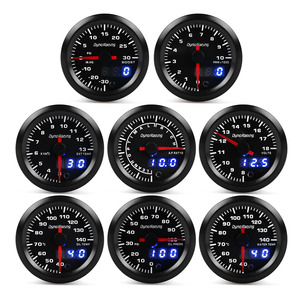"2"" 52mm 7 Colors LED Dual Display Boost gauge Water temp Oil temp Oil pressure Voltmeter Air fuel Ratio EGT Tachometer Car Gauge(China)"