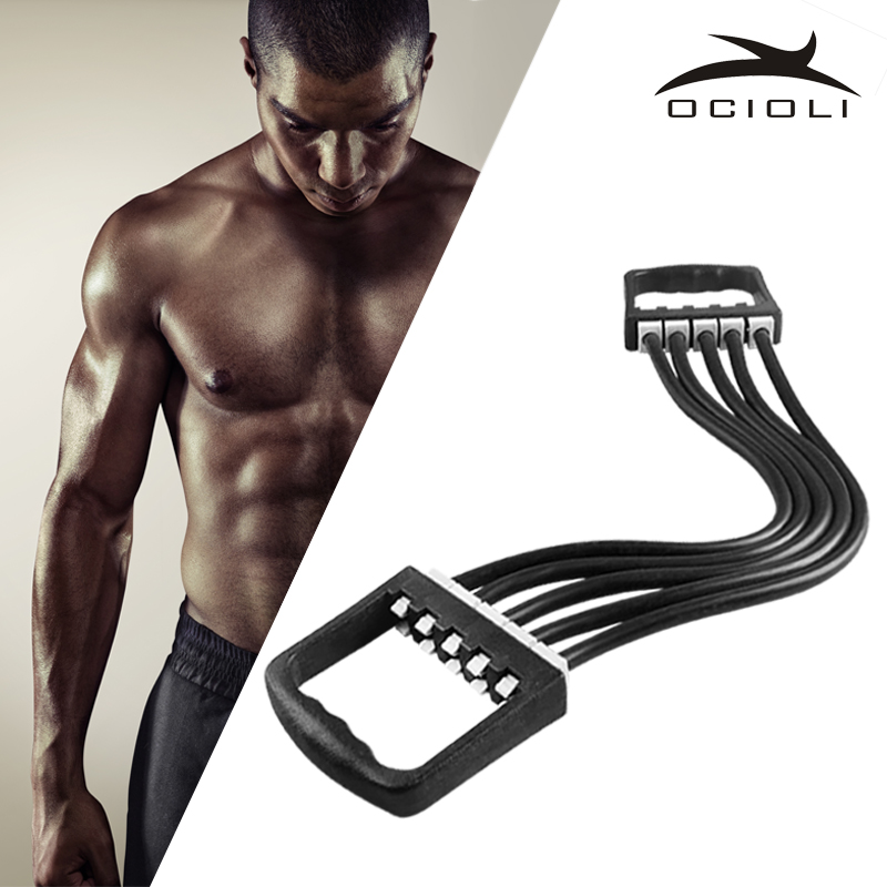 5 Spring Chest Expander Exercise Puller Muscle Stretcher Training Home Gym Pull