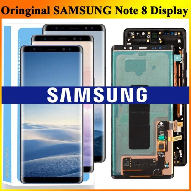الأصلي 6.3 سوبر AMOLED LCD مع الإطار لسامسونج غالاكسي نوت 8 نوت 8 N950 N950F عرض تعمل باللمس محول الأرقام الجمعية