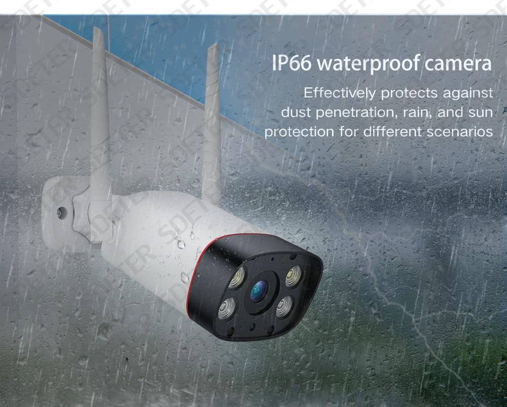 H11865f8d91df43cf9ba88a938eb49b3f8 SDETER WiFi Outdoor Security Camera 1080P IP Camera WIFI Waterproof Wireless CCTV Camera Night Vision Audio Motion Alarm P2P Cam