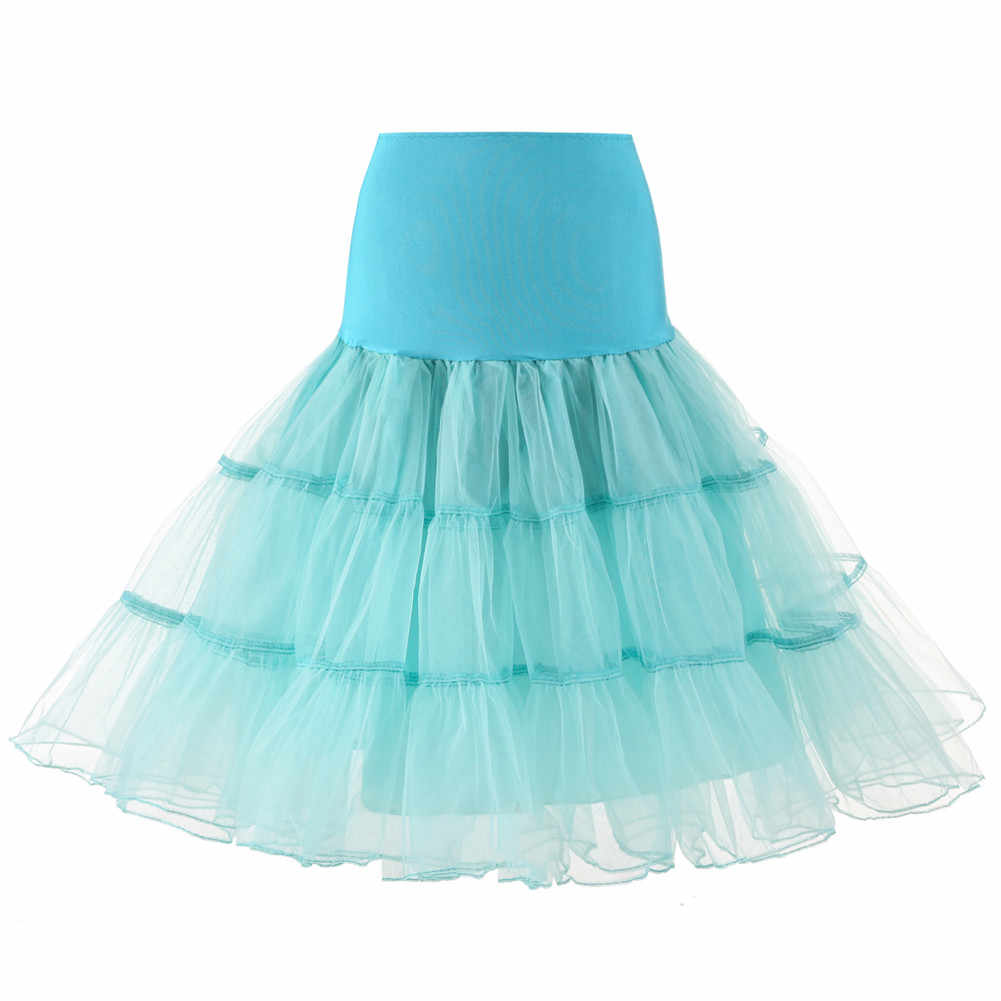 2019 frühling Cosplay Petticoat Frau Unterrock 65CM Länge Knie Kurze Hochzeit Petticoat 3 Schichten Puffy Organza Abend Tutu