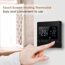 Termostato lcd touch screen s-mart, termostato elétrico, aquecimento de piso, termostato s-mart, controlador de temperatura para casa, AC85-240V