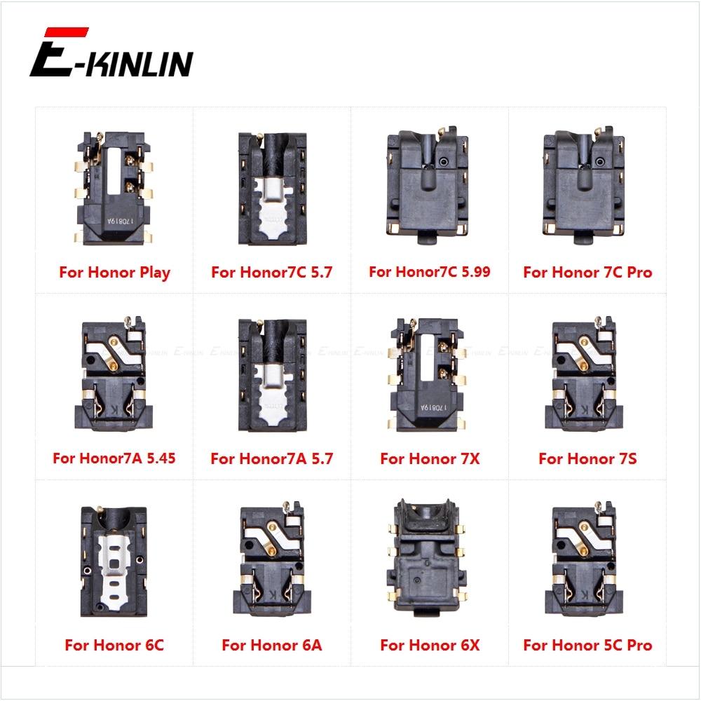 Headphone Jack Ear Earphone Audio Flex For HuaWei Honor Play 7C 7A 7X 7S 6C 6A 6X 5C Pro Port Connector Repair Parts