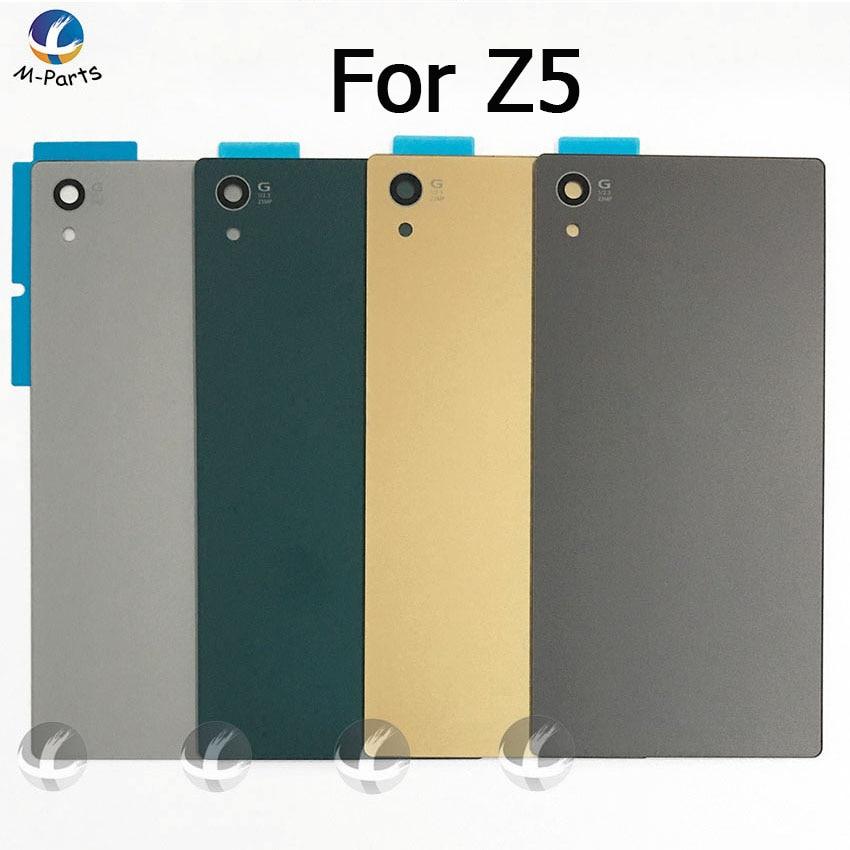 Back Rear Glass Cover Housing For Sony Xperia Z5 E6603 E6633 E6653 E6683 Battery Door Lid Shell Case Part +LOGO+Adhesive+ NFC