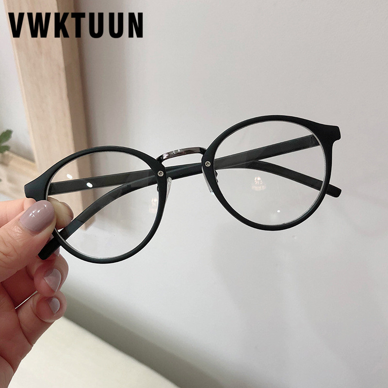 VWKTUUN Round Glasses Frame Clear Lens Eyeglasses Vintage Metal Myopia Glasses Frame Fake Glasses Student Optical Glasses Frames