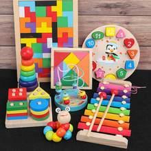 QWZ Montessori ahşap oyuncaklar çocukluk eğitici oyuncak çocuk çocuk bebek renkli ahşap bloklar aydınlanma eğitici oyuncak