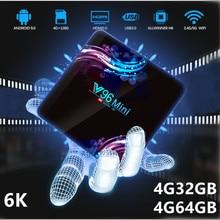 Android TV Box Android 9.0 4G 32GB 64GB V96Mini 6K Allwinner H6 Media Player WiFi 2.4G&5G Smart TV Box Play Store Set Top Box