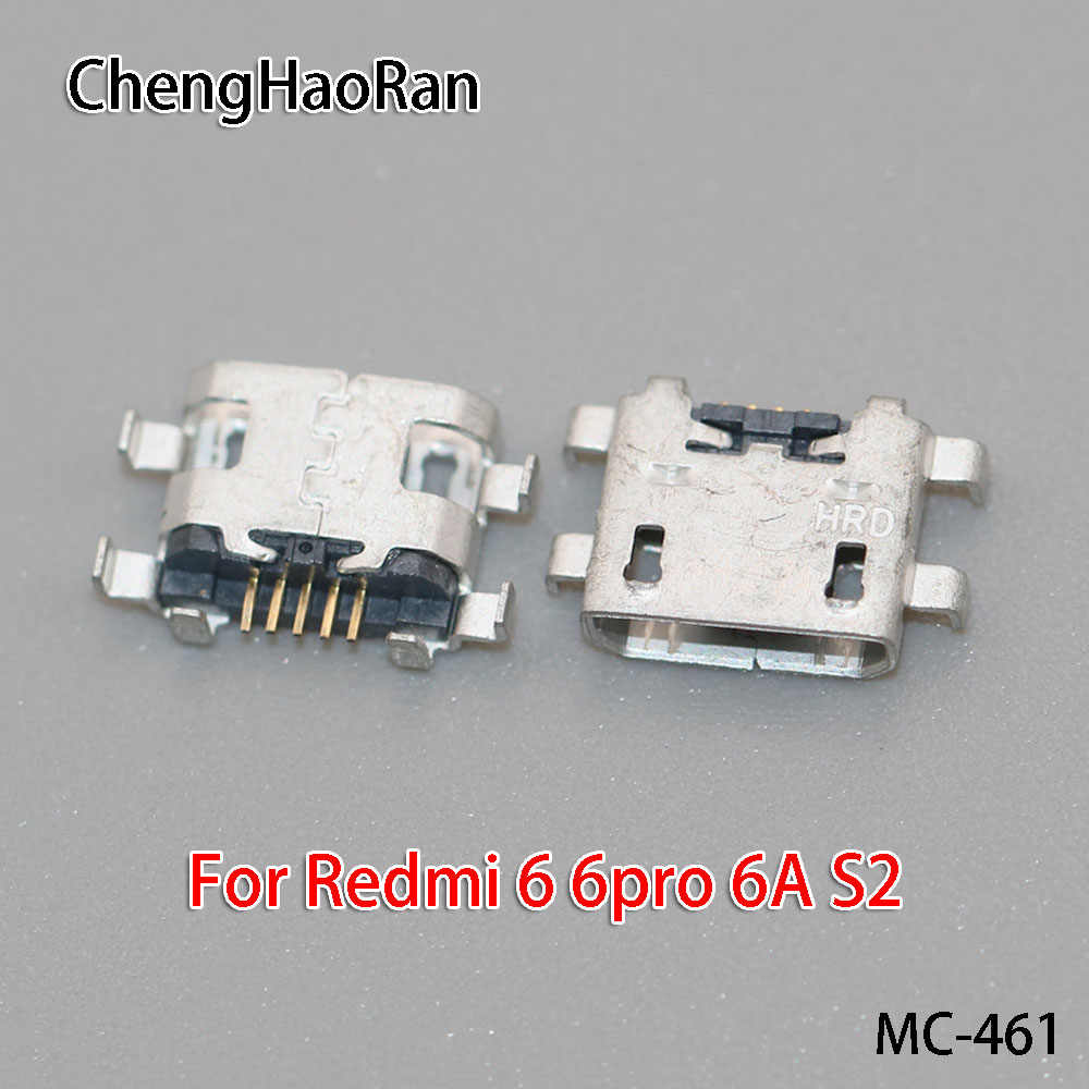 ChengHaoRan 1PCS/lot Micro USB Charging Port For Redmi 6 6pro 6A S2/NOTE5 5A Mobile Data Connector Interface repair