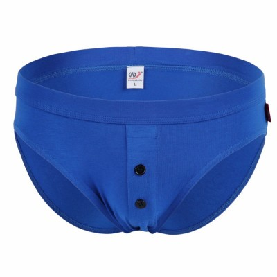 Men's Briefs Underwear 100% Cotton Briefs Button Sexy Underwaer 8 Colors
