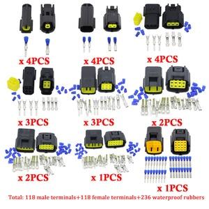 Image 4 - 1 상자 24 세트 1.8mm 시리즈 방수 씰링 자동차 자동 Eletrical 와이어 케이블 커넥터 플러그
