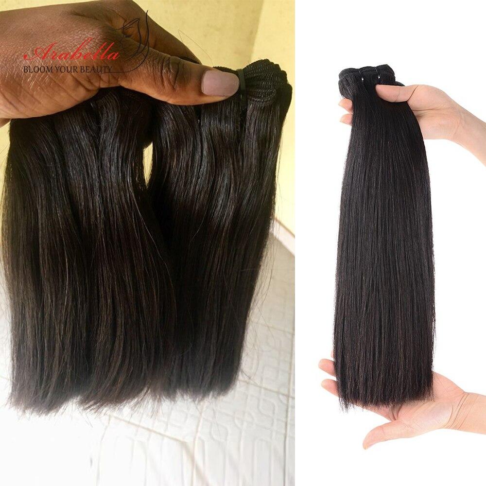 Double Drawn Bone Straight Hair  Bundles Vrigin Hair  Natural Color Thick Ends Hair Bundles Arabella Hair Bundles 4