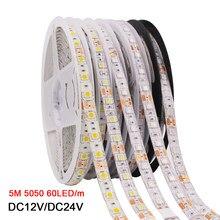 Светодиодная лента 5050 RGB CCT RGBCCT RGBW RGBWW 12 В 24 В, водонепроницаемая 5 м 300 светодиодов, белого, синего, теплого белого света, гибкая светодиодная л...