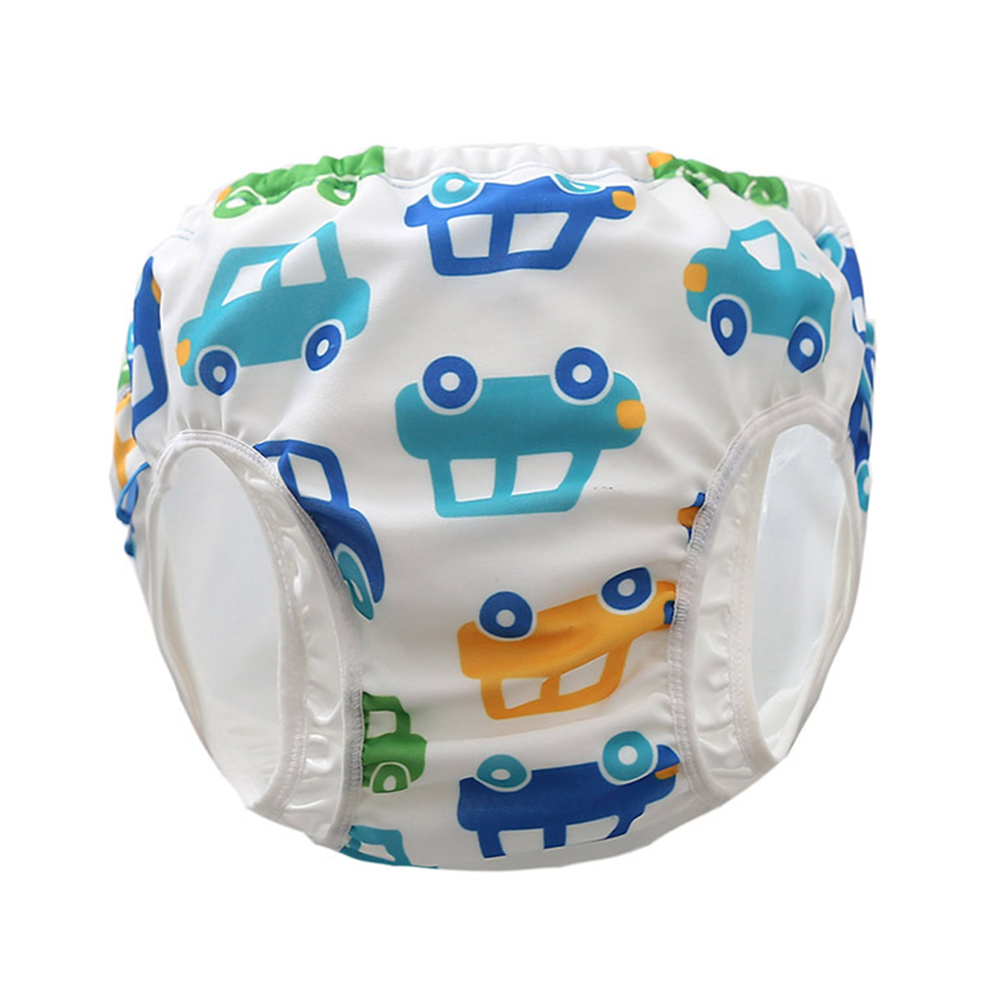 Boys Girls Cartoon Cute Children Printed Newborn Washable High Waist Waterproof Swim Diapers Reusable Leak-proof Pool Babies