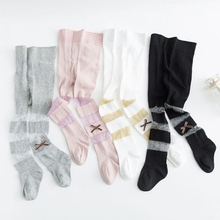 цена 2019 New Autumn Toddler Baby Girls Soft Pants Leggings Children Cute Stretchy Striped Print Trousers Bottoms онлайн в 2017 году