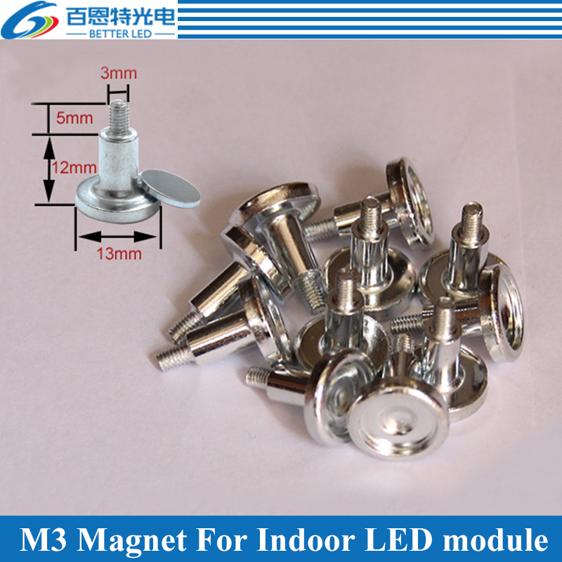 50pcs/lot M3 Cylinder Magnet For Indoor Full-color LED Display Module