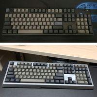 Dolch preto cinza misturado grosso pbt 108 keycaps oem cherry perfil ansi layout bicolor injeção sobre moldagem keycap