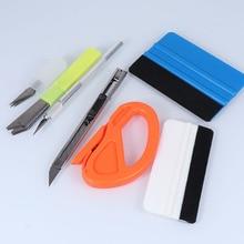 7pcs Professional Carbon Fiber Magnetic Stick Squeegee Cutter Vinyl Wrap Car Tools Set Auto Window Tint Tool Film Sticker Wrappi