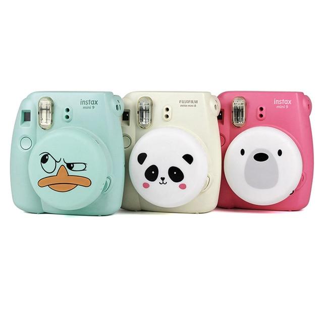 Accessoires de coque de protection en Silicone pour couverture de étui dobjectif de caméra Adorable pour appareil photo instantané Fuji Fujifilm Instax Mini 9 Mini 8