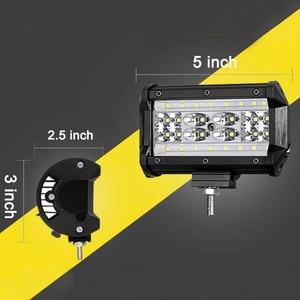 Image 5 - LED עבודה אור בר 168W 5 אינץ פנסים עבור טרקטור סירת טרקטורונים SUV Jeep משאית נהיגה מנורת משולבת led קורות Offroad ערפל אורות