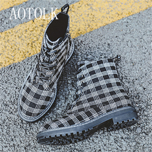 Women Winter Boots Warm Shoes Platform Lace Up Fashion Martin Boots Round Toe Ankle Boots Woman ShoesMujer Casual Shoes DE