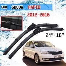 Para skoda rapid 2012 2013 2014 2015 2016 acessórios do carro janela dianteira windshield windscreen limpador lâminas escovas cortador de auto
