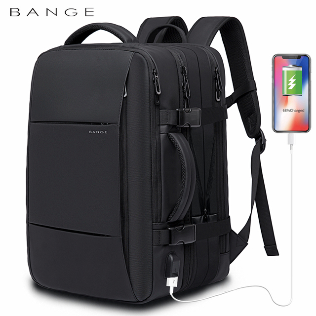 Bange Fashion Man Backpack Waterproof 15.6 inch Laptop USB Recharge Backpack Multi-layer High capacity Travel Male Bag Rucksack