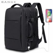Bange moda erkek sırt çantası su geçirmez 15.6 inç Laptop USB yeniden şarj edilebilir sırt çantası çok katmanlı yüksek kapasiteli seyahat erkek çantası sırt çantası