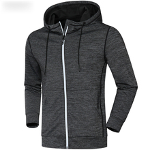 2020 New Winter Autumn Hoodies Sport Shirt Men Hat Zipper Running Jackets Fitness Gym Sports Clothing Sport Top Men's Sportswear
